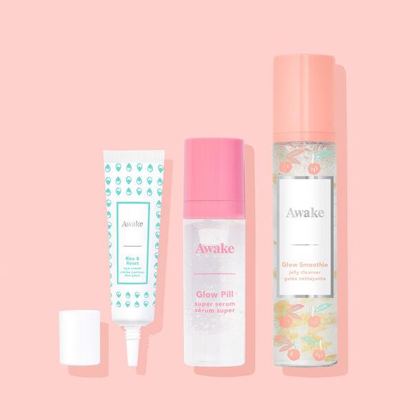 Glow Into Skincare travel-size trio